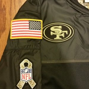 the best attitude 2eb44 6ba59 San Francisco 49ers Salute to Service Jacket NWT